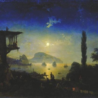Лунная ночь в Крыму. Гурзуф