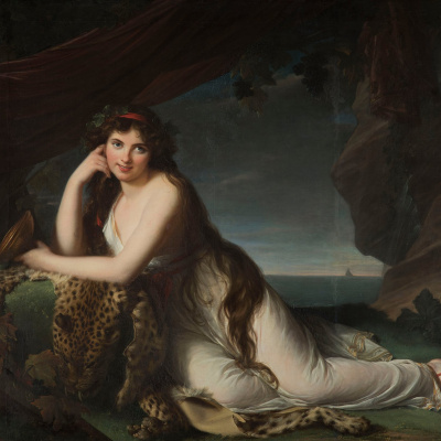Emma Hamilton in the image of the Bacchae