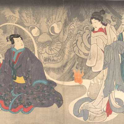 Diptych: Stories about ghosts. Cat demon of Okazaki