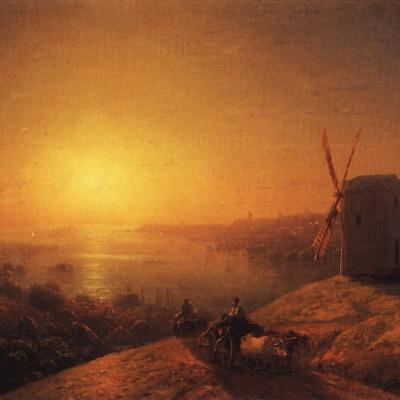 Мельница на берегу реки. Украина