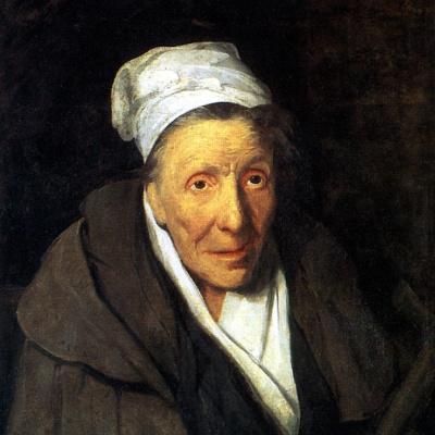Portrait of a crazy old woman
