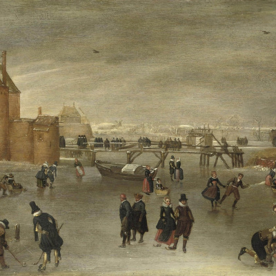 Skaters, golfers and a sleigh around Haarlem