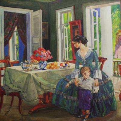 «Семья в интерьере» 1910-е