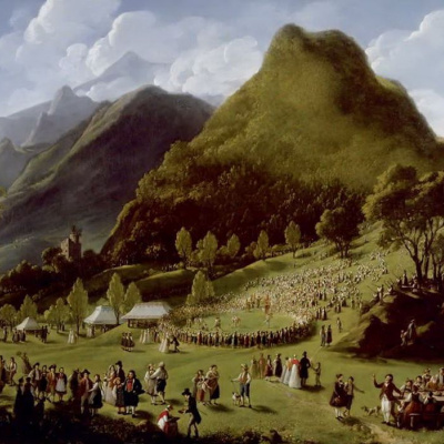 The feast of the shepherds in Unspunnen 17 Aug 1808