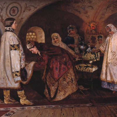 Первая встреча царя Алексея Михайловича с боярышнею Марией Ильиничной Милославской (Выбор царской невесты)