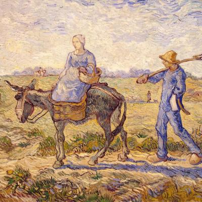 Morning. Administration (Imitation of Millais)