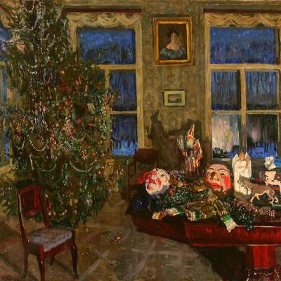 The night before Christmas (Interior with Christmas tree)