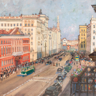 Moscow. At The City Council. Until 1943 mixed media.