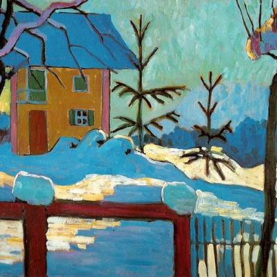 Дом в лучах зимнего солнца