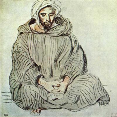 Eugene Delacroix. Sitting Arab. Tangier