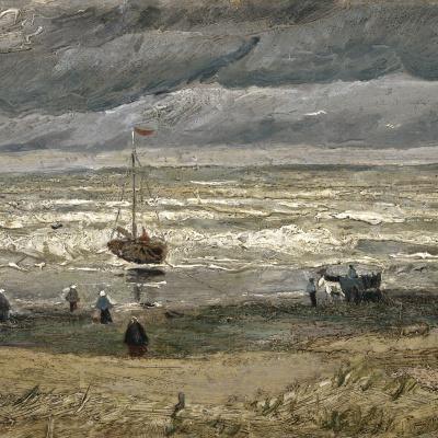 Вид на море у Схевенингена