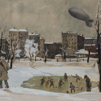 """Evening. Patriarch's ponds. From the series """"Moscow's military"""""""