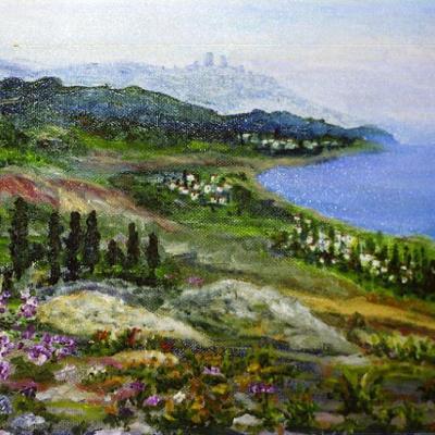 Вид на Средиземное море с Галилейских гор