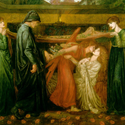 The dream Dante of the death of Beatrice