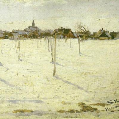 Hornbaek in winter