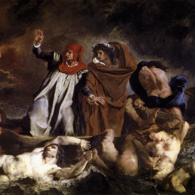 Данте и Вергилий в Аду (Ладья Данте)