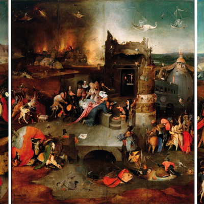 The temptation of St. Anthony. Triptych