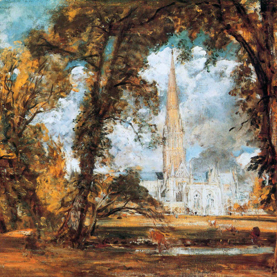 The Salisbury Cathedral. Sketch