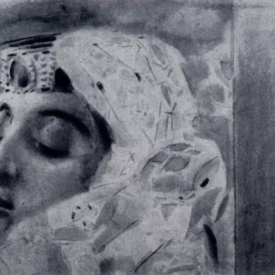 Тамара в гробу. Иллюстрация к поэме М.Ю. Лермонтова «Демон». Фрагмент