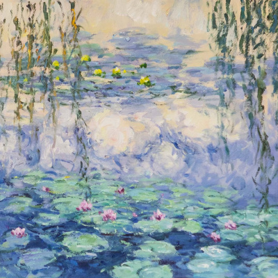 """""""Water Lilies"""", N27, a copy of Claude Monet's painting"""