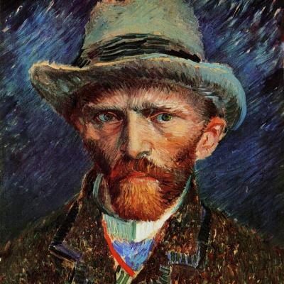 Автопортрет в серой фетровой шляпе