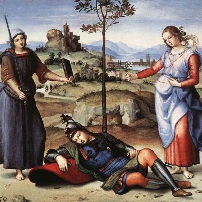 Raphael Santi. Dream knight