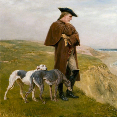 Briton Riviere. An Exile of the 45
