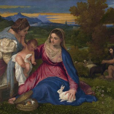 Мадонна с Младенцем и Екатериной Александрийской или Мадонна с кроликом