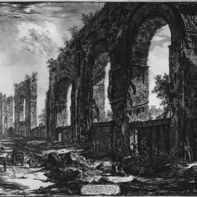 The ruins of the aqueduct of Nero