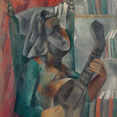Woman with a mandolin