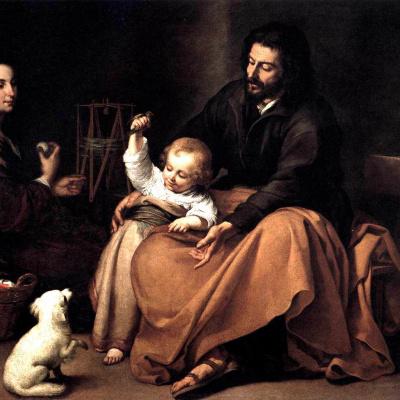 Святое семейство с птичкой