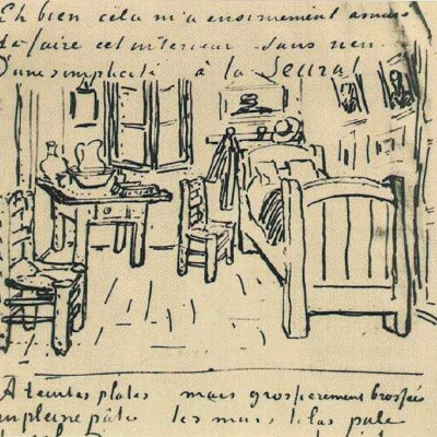 Bedroom Vincent. The figure in the letter
