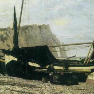 Рыбацкая лодка. Этрета. Нормандия