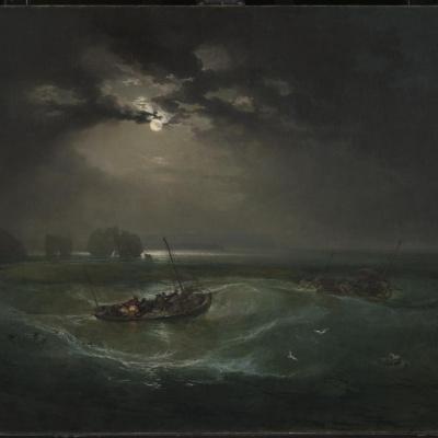 Рыбаки в море