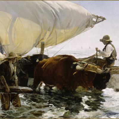 Возвращение с рыбалки. Буксировка лодки