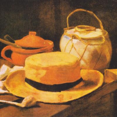 Натюрморт с соломенной шляпой и трубкой