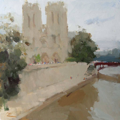 Slava Korolenkov. Notre Dame de Paris. Notre-Dame de Paris. 60/60 cm. 2016. For sale.
