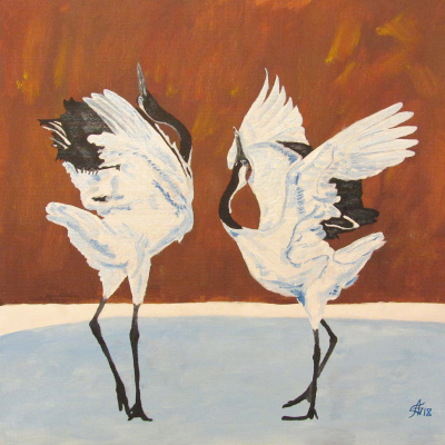 Artashes Badalyan. Crane Dance - map.-m - 40x40