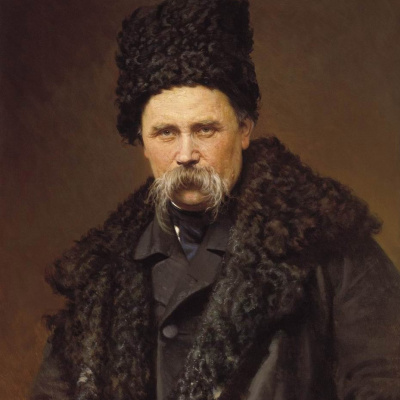 Portrait of Ukrainian poet and artist Taras Shevchenko