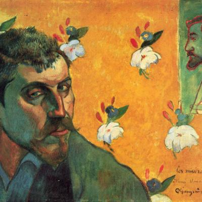 Self-portrait dedicated to Vincent van Gogh (Les Miserables)