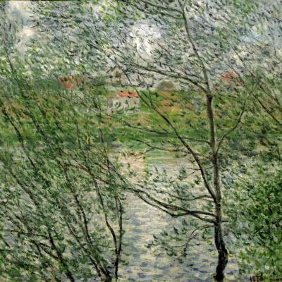 Springtime through the branches