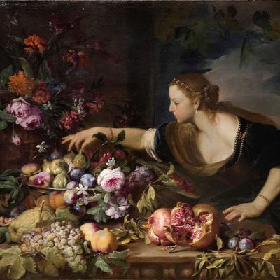 Woman Grasping Fruits