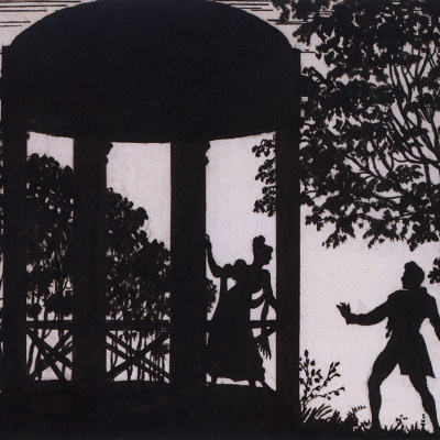 The date of Vladimir and Masha in the garden