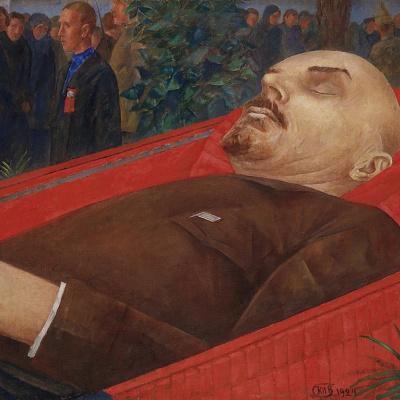 Lenin, in his coffin