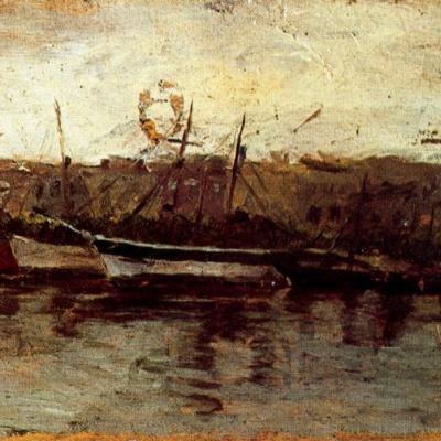 Аликанте, вид на корабли