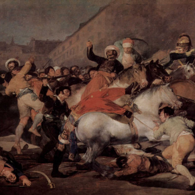 Skirmish with the Mamelukes on 2 may 1808 in Madrid