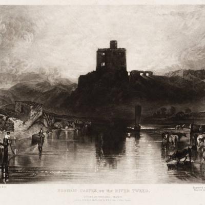 NOREM castle on the river Tweed
