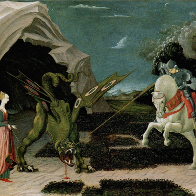 The battle of St. George with the dragon