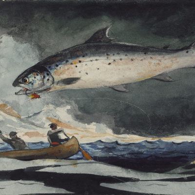 Удачная рыбалка. Река Сагеней