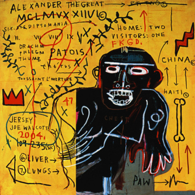 Jean-Michel Basquiat. All of the colored castes III